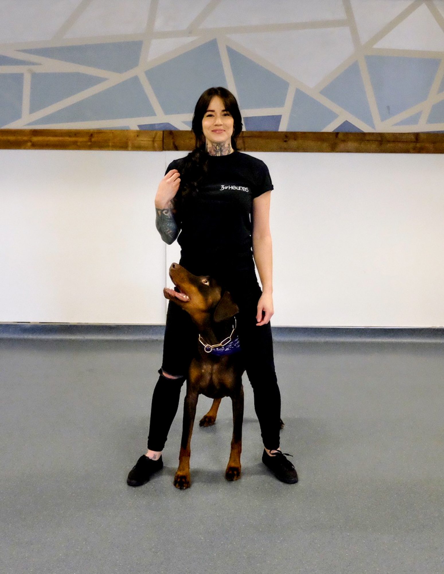 Portrait of Hannah and Raiden Founder of 3 of Hounds